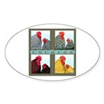 Cochins! Oval Sticker