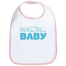 Blue Basketball Baby Bib