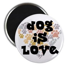 "Dog is love, neutral. 2.25"" Magnet (10 pack)"