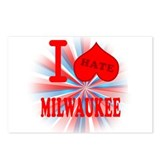 I No Heart Milwaukee Postcards (Package of 8)