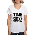 Time Sucks Women's V-Neck T-Shirt