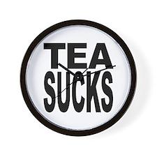 Tea Sucks Wall Clock