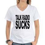 Talk Radio Sucks Women's V-Neck T-Shirt
