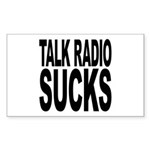 Talk Radio Sucks Rectangle Sticker