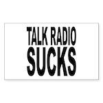Talk Radio Sucks Rectangle Sticker 50 pk)