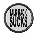 Talk Radio Sucks Large Wall Clock