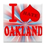 I No Heart Oakland Tile Coaster
