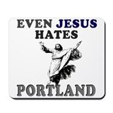 Funny Portland city Mousepad