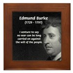 Politics: Edmund Burke Framed Tile