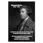 Politics: Edmund Burke Large Poster