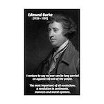 Politics: Edmund Burke Mini Poster Print