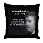 Politics: Edmund Burke Throw Pillow
