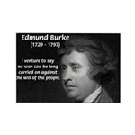 Politics: Edmund Burke Rectangle Magnet (100 pack)