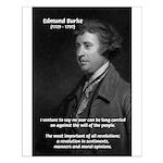 Politics: Edmund Burke Small Poster