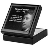 Politics: Edmund Burke Keepsake Box