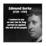 Politics: Edmund Burke Tile Coaster