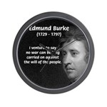 Politics: Edmund Burke Wall Clock