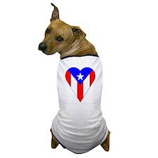 Puerto Rico Heart-Shaped Flag Dog T-Shirt