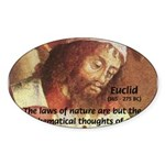 Euclid: Math and Philosophy Oval Sticker