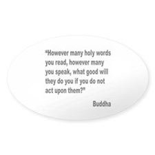 Buddha Holy Words Quote Oval Sticker (10 pk)