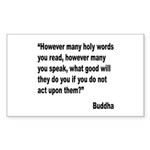 Buddha Holy Words Quote Rectangle Sticker 10 pk)