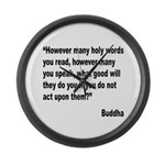 Buddha Holy Words Quote Large Wall Clock