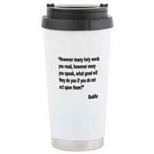 Buddha Holy Words Quote Ceramic Travel Mug