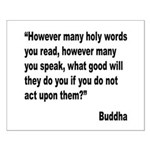 Buddha Holy Words Quote Small Poster