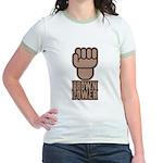 Brown Power Jr. Ringer T-Shirt
