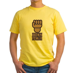 Brown Power Yellow T-Shirt