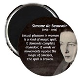 Simone De Beauvoir Magnet
