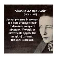 Simone De Beauvoir Tile Coaster