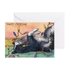 Helping with the lights Greeting Cards (Pk of 10)
