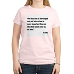 Buddha Idea Into Action Quote (Front) Women's Ligh
