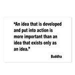 Buddha Idea Into Action Quote Postcards (Package o