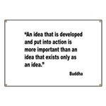 Buddha Idea Into Action Quote Banner