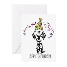 Dalmatian Happy Birthday Greeting Cards (Pk of 20)