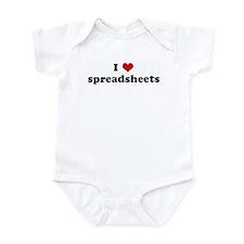 I Love spreadsheets Infant Bodysuit