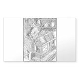 Bibliomaniac Rectangle Sticker 10 pk)