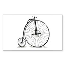 Penny Farthing Rectangle Sticker 50 pk)