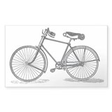 Old Bike (M) Rectangle Decal