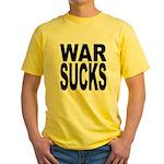 War Sucks Yellow T-Shirt