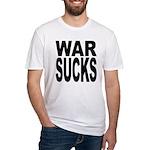 War Sucks Fitted T-Shirt