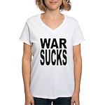 War Sucks Women's V-Neck T-Shirt