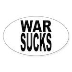 War Sucks Oval Sticker (10 pk)