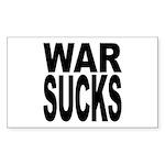 War Sucks Rectangle Sticker