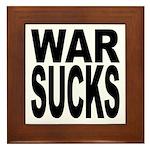 War Sucks Framed Tile