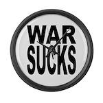 War Sucks Large Wall Clock