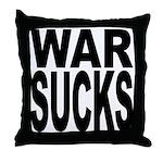 War Sucks Throw Pillow