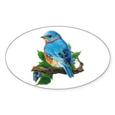 Bluebird Oval Decal